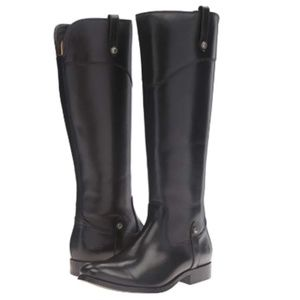 Frye Melissa Tab Tall Riding Boots Black Size 6.5